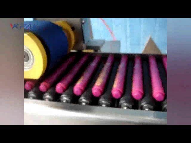 Etichettatrice automatica in stick per balsamo per labbra pastelli
