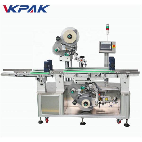 Etichettatrice automatica per adesivi su due lati superiore e inferiore