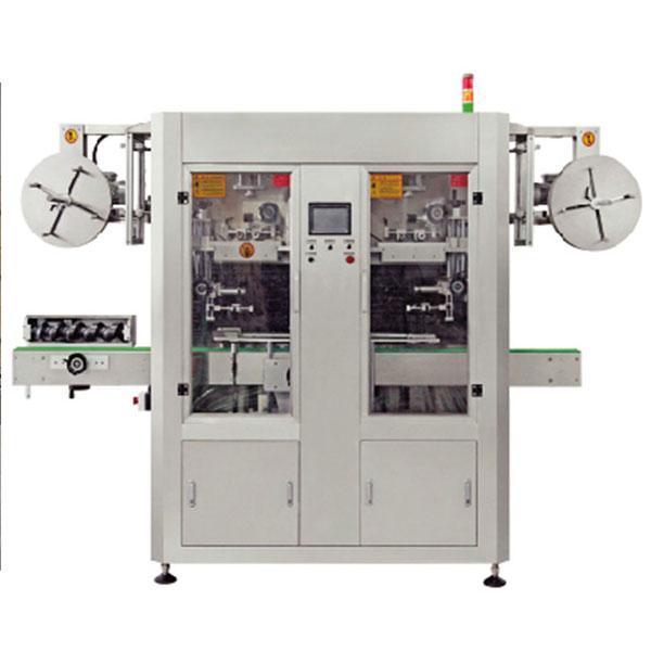 Applicatore automatico di etichette per maniche termoretraibili in PVC a doppia corsia